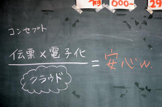 でん票くんコンセプト「伝票×電子化÷クラウド=安心w.」